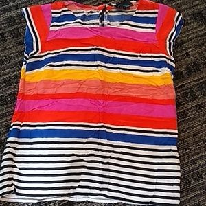 Striped Bright Sleeveless Blouse